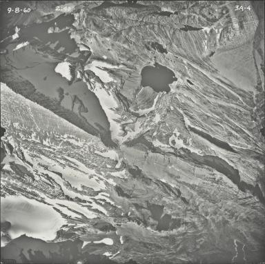 Two Ocean Glacier, aerial photograph 3A-4, Montana