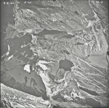 Two Ocean Glacier, aerial photograph 3A-5, Montana