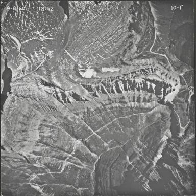 Piegan Glacier, aerial photograph 10-1, Montana