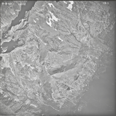 Harrison Glacier, aerial photograph 13-1, Montana