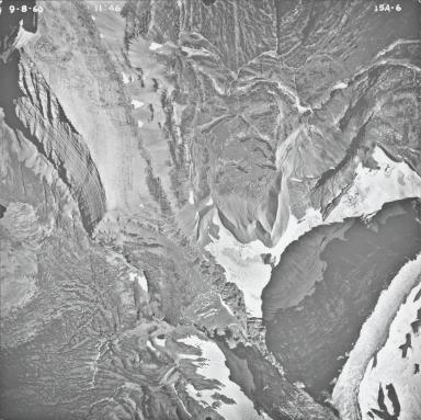 Logan Glacier, aerial photograph FL15A-6, Montana