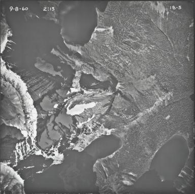 Herbst Glacier, aerial photograph 18-5, Montana