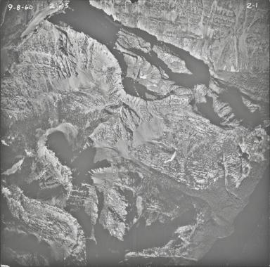 Rainbow Glacier, aerial photograph 2-1, Montana