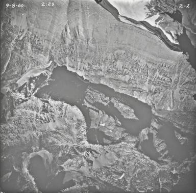 Rainbow Glacier, aerial photograph 2-2, Montana