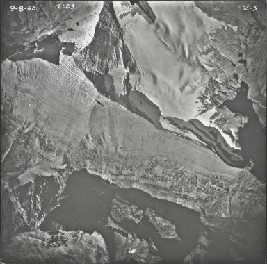 Rainbow Glacier, aerial photograph 2-3, Montana