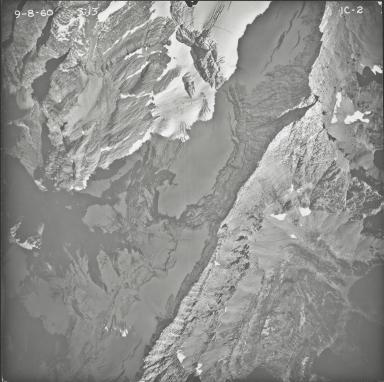 Kintla Glacier, aerial photograph FL IC-2, Montana