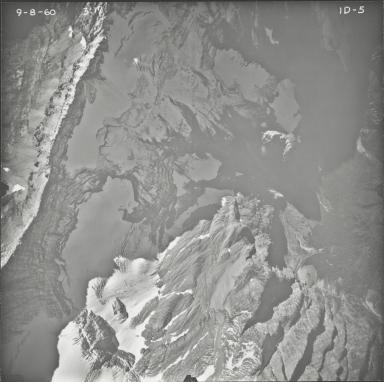 Kintla Glacier, aerial photograph FL ID-5, Montana