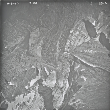Agassiz Glacier, aerial photograph IB-6, Montana