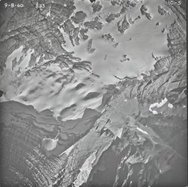 Agassiz Glacier, aerial photograph IC-5, Montana