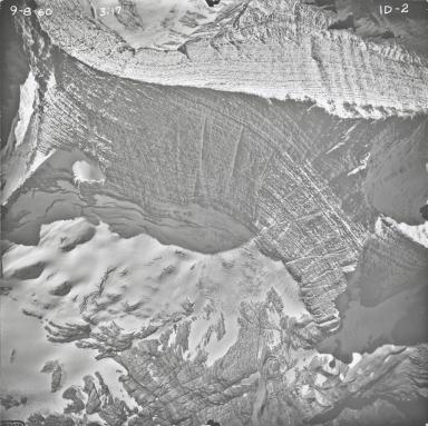 Agassiz Glacier, aerial photograph ID-2, Montana