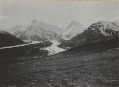 Unknown glacier, Cathedral Mountain (Mount Deborah), Alaska