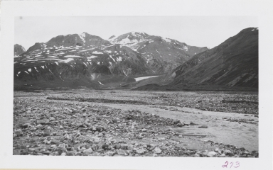 Unknown glacier, head of Slana River, Alaska
