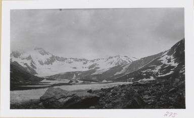 Unknown glacier, head of Slana River, Alaska