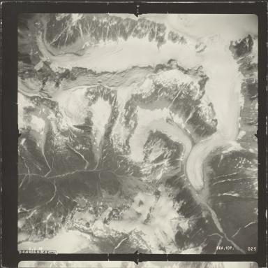 Unknown glacier near Bradfield Canal, aerial photograph SEA 107-025, Alaska