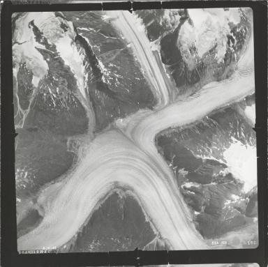Chickamin Glacier, aerial photograph SEA 109-168, Alaska