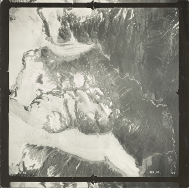 Muddy River Glaciers, aerial photograph SEA 113 110, Alaska