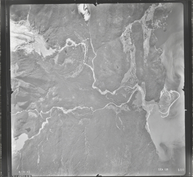 Herbert Glacier and Eagle Glacier, aerial photograph SEA 126 100, Alaska