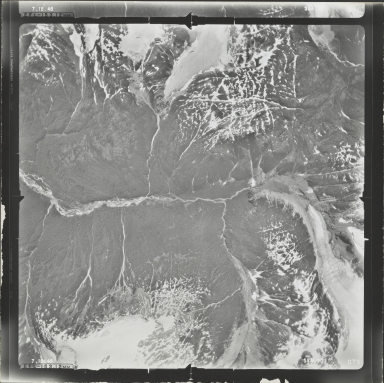 AL-5628.5/13126.5 Glacier in Bradfield Canal sheet, aerial photograph SEA 90 075, Alaska