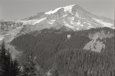Unknown glacier near Mount Rainier, Washington