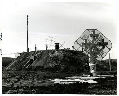 Blockhouse at Poker Flat Rocket Range, Alaska