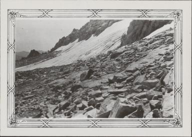 Unknown glacier near Thompson Peak, California