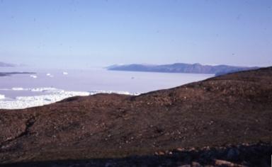 View of Englefield Fjord seaward, Greenland