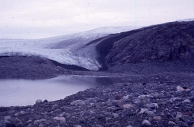 Circle of stones near Petowik Glacier, Greenland