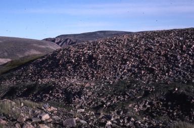 Rubble slope near Petowik Glacier, Greenland