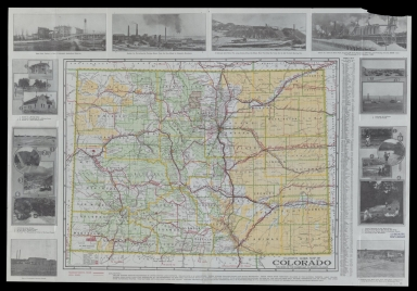 Clason's guide map of Colorado