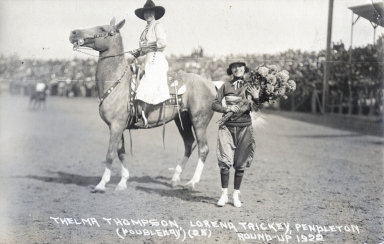 Thelma Thompson and Lorea Trickey at Pendleton Round-Up
