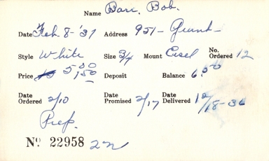 Index card for Bob Barr