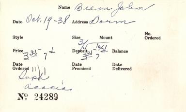 Index card for John Beem