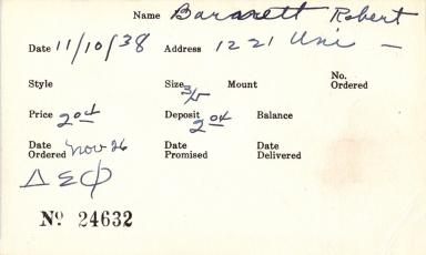 Index card for Robert Barnett