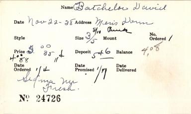 Index card for David Batchelor