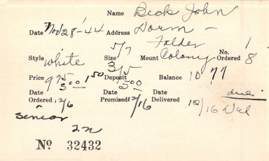 Index card for John Beck