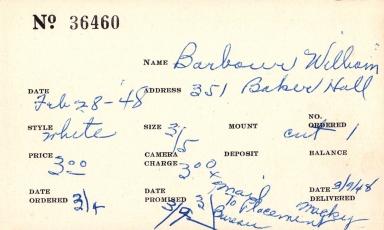 Index card for William Barbour