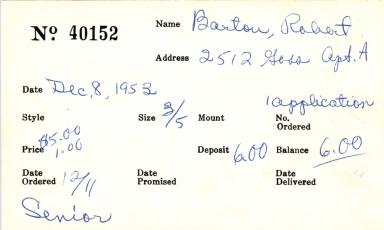 Index card for Robert Barton