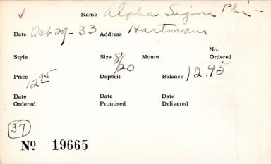 Index card for Alpha Sigma Phi