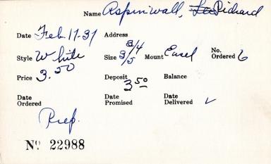 Index card for Richard Aspinwall