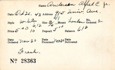 Index card for Alfred C. Anderson, Jr.