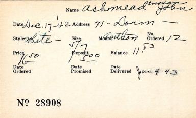 Index card for John Ashmead
