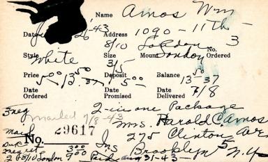 Index card for William Amos