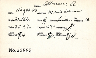Index card for A. Altman