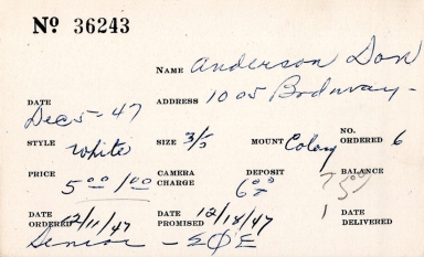 Index card for Don Anderson
