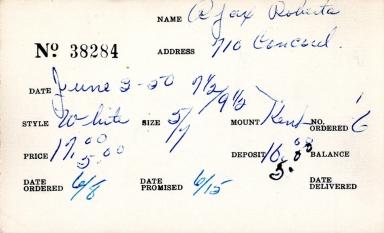 Index card for Roberta Ajax