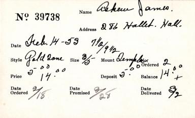Index card for James Askew