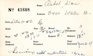 Index card for Don Aabel