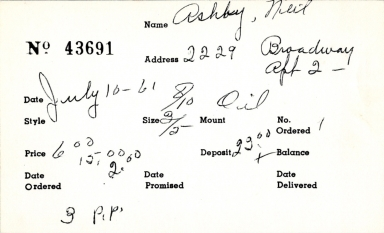 Index card for Neil Ashby