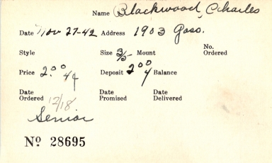 Index card for Charles Blackwood