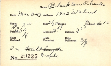 Index card for Charles Blackton